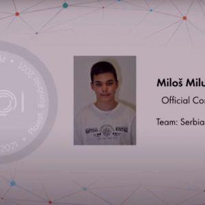 Сребрна медаља на Европској јуниорској олимпијади из информатике за Милоша Милутиновића